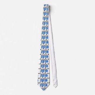 Law School Grad 2018 Caps And Diplomas (Blue) Tie