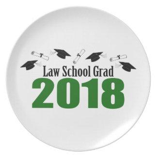 Law School Grad 2018 Caps And Diplomas (Green) Plate