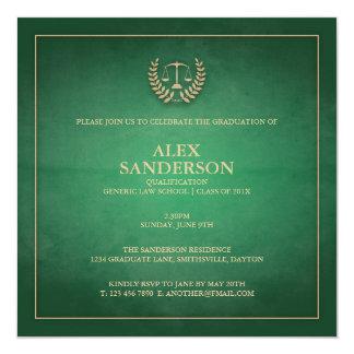 Law School Graduation Announcement | Green