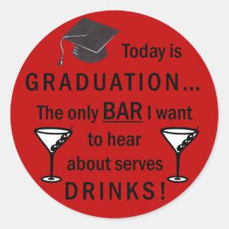 Law School Graduation Bar Exam Funny Lawyer Round Sticker