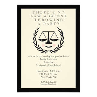 Law School Graduation Invitations