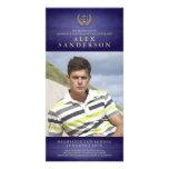 Law School Graduation Photo Announcement | Blue Custom Photo Card