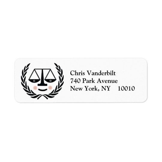 Law School Graduation Return Address Label