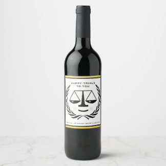 Law School Graduation Wine Label