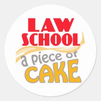 Law School - Piece of Cake Round Sticker