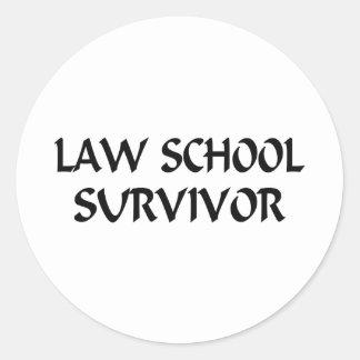 Law School Survivor Classic Round Sticker