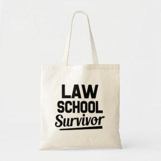 Law School Survivor funny tote bag