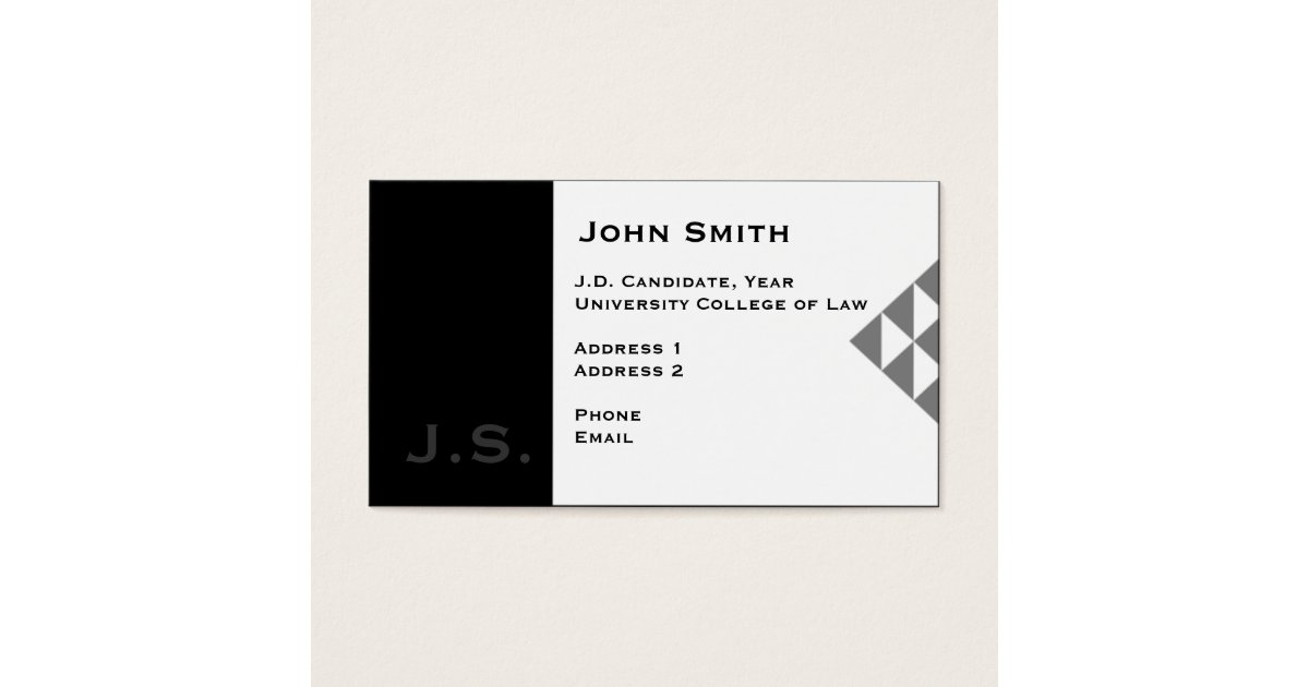 Law student business card 3 zazzleca for Law student business card