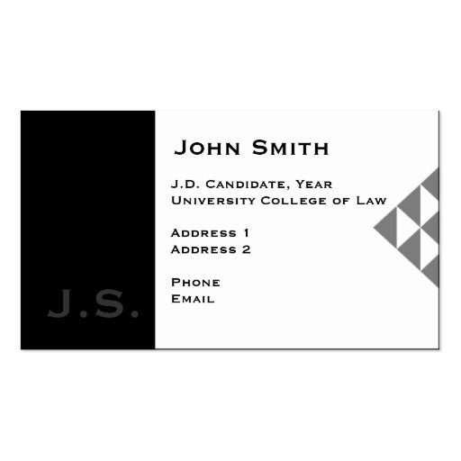 Law Student Business Card 3