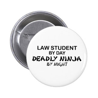 Law Student Deadly Ninja 2 Inch Round Button