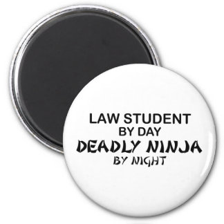 Law Student Deadly Ninja 2 Inch Round Magnet