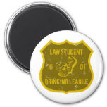 Law Student Drinking League 2 Inch Round Magnet