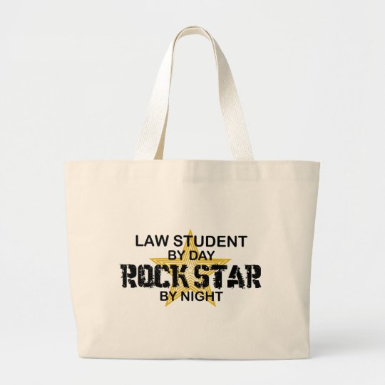 Law Student Rock Star Large Tote Bag