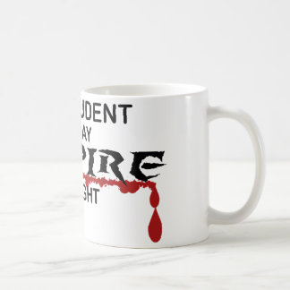 Law Student Vampire by Night Coffee Mug