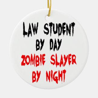 Law Student Zombie Joke Ceramic Ornament