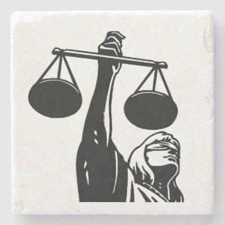 Law Symbol Scale Stone Coaster