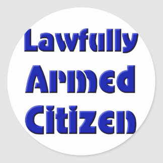 Lawfully Armed Citizen Round Sticker