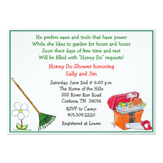 Lawn and Garden Bridal Shower Invitation