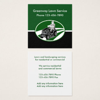 Lawn And Landscaping Sevices Square Business Card