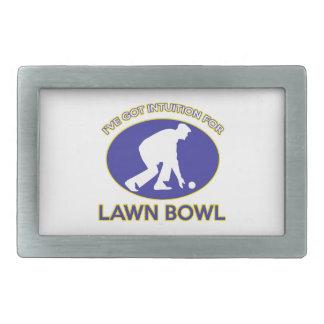 Lawn Bowl design Belt Buckle