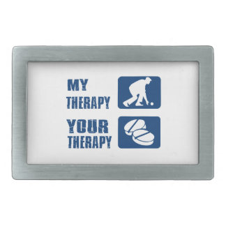 Lawn bowl therapy designs rectangular belt buckle