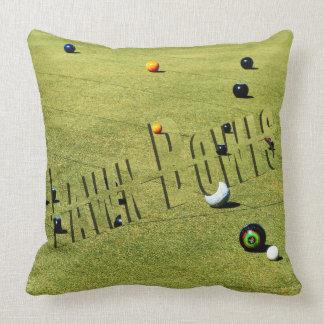 Lawn Bowls Action, And Logo, Big Throw Cushion