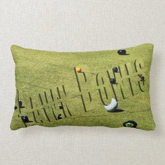 Lawn Bowls Action, And Logo, Lumbar Cushion