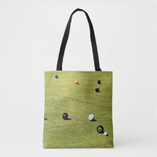 Lawn_Bowls,_Action,_Unisex_Shopping_Bag Tote Bag