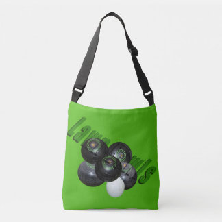 Lawn Bowls And Logo, Full Print Crossbody Bag. Crossbody Bag