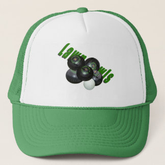 Lawn Bowls And Logo Green Truckers Cap