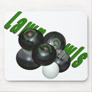 Lawn Bowls And Logo, Mouse Pad