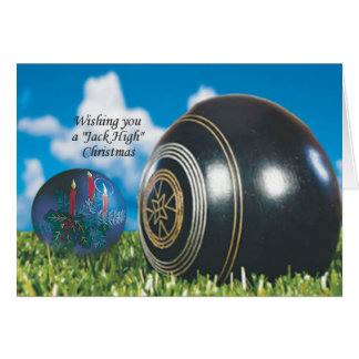 Lawn Bowls Christmas card with special verse