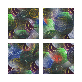 Lawn Bowls Colorful Abstract Art, Canvas Print
