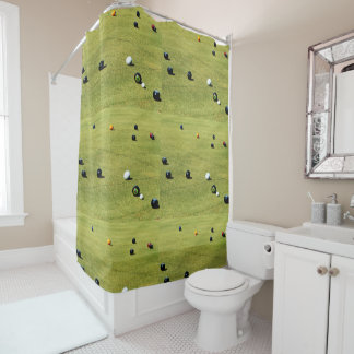 Lawn Bowls Competition, Shower Curtain.
