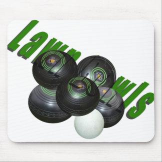 Lawn Bowls, Dimensional Logo Moursepad Mouse Pad