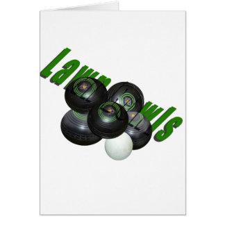 Lawn Bowls, Dimensional Logo, Small Greeting Card