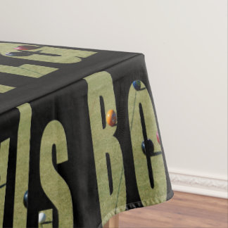 Lawn Bowls Dimensional Picture Logo, Tablecloth