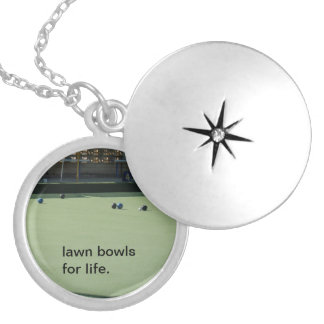 Lawn_Bowls_For_Life_Silver_Necklace, Locket Necklace