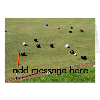 Lawn_Bowls_Game,_Add_Your_Message,_Greeting_Card Card