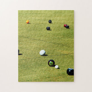 Lawn Bowls Game In Action, Jigsaw Puzzle