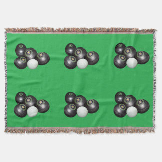 Lawn_Bowls,_Green_Woven_Blanket Throw