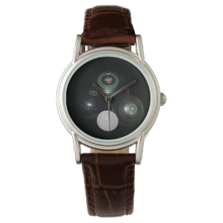 Lawn_Bowls,_Lets_Play Ladies Brown Leather Watch. Wrist Watches