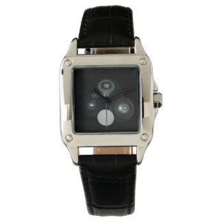 Lawn_Bowls,_Lets_Play Ladies Square Leather Watch. Watch