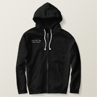Lawn Bowls Life, Embroidered Sherpa Zip Hoodie