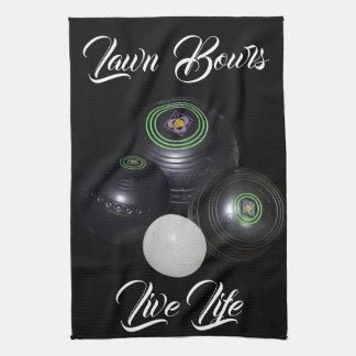 Lawn Bowls Live Life, Kitchen Towel
