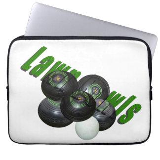 Lawn Bowls Logo, 13 inch Laptop Sleeve