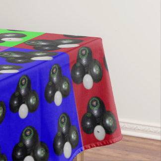 Lawn Bowls Multi Coloured Patchwork Pattern, Large Tablecloth
