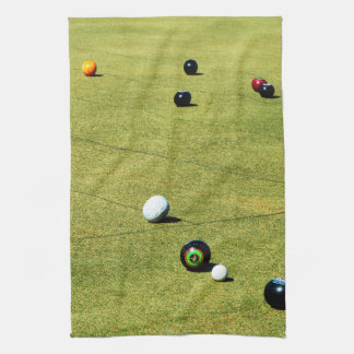 Lawn Bowls On The Green, Kitchen Towel