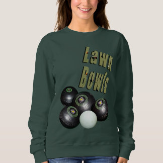 Lawn Bowls Picture Logo And Bowls, Sweatshirt