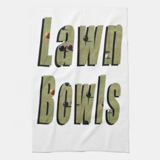 Lawn Bowls Picture Logo, Kitchen Towel